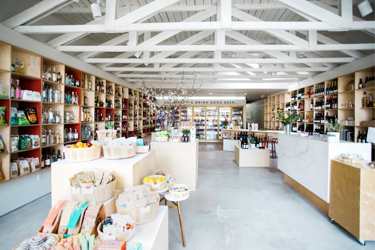 Винный магазин HiLo в Лос-Анджелесе