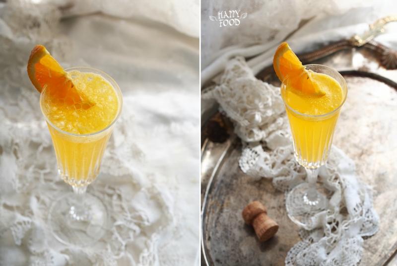 Игристый коктейль с мандарином