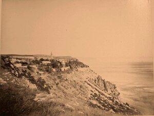 Вид на Балаклавский Георгиевский монастырь у мыса Фиолент. Севастополь