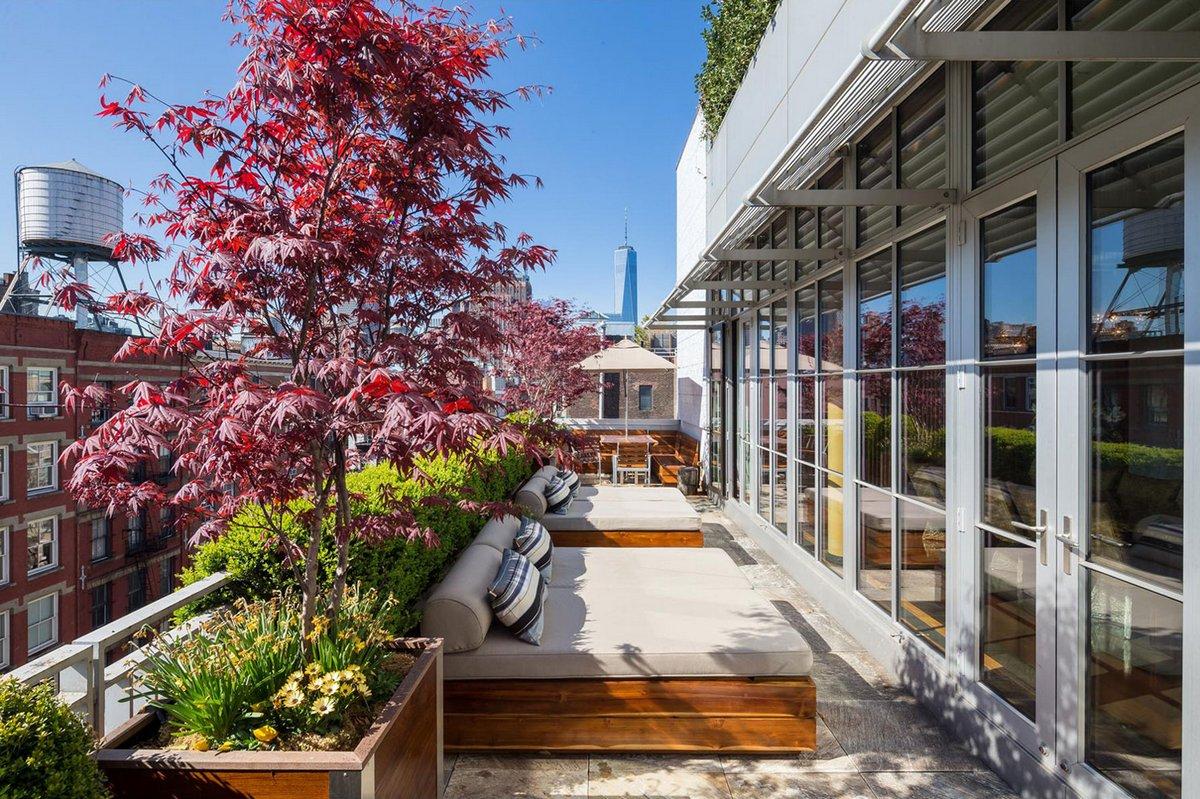 пентхаус в Сохо, пентхаус на Манхэттене, пентхаус с террасой, терраса на крыше дома, пентхаус в центре Нью-Йорка, Эдуард Зигель, Эрнесто де ла Торре