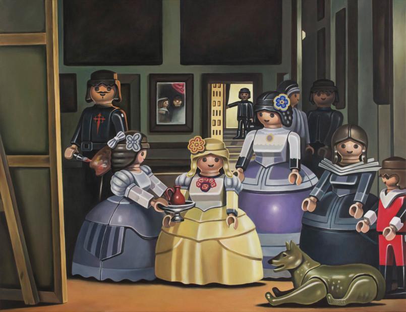 Playmobil Paintings by Pierre-Adrien Sollier