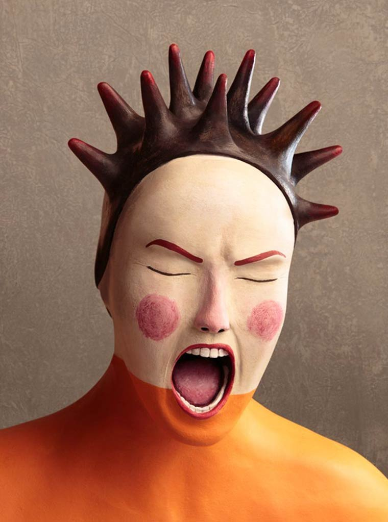 Clay Portraits - The beautiful clay illustrations by artist Irma Gruenholz