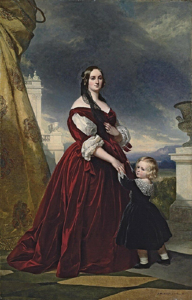 Franz Xaver Winterhalter (Menzenschwand 1805-1873 Frankfurt am Main) Portrait of the Countesse Duchapel, full-length