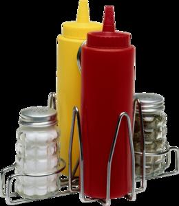 соль, перец, кетчуп, горчица