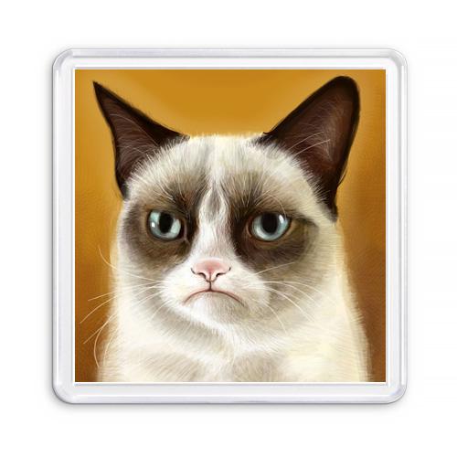 МАГНИТ АКРИЛОВЫЙ / СЕРДИТЫЙ КОТ — GRUMPY CAT (арт. 000313)