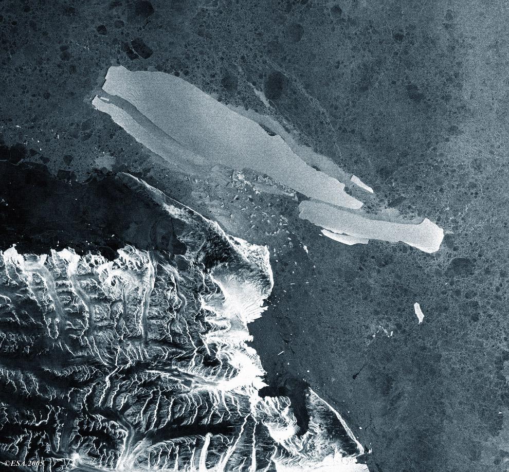 Научное судно «Академик Шокальский», заблокированное в Антарктике осколками айсберга 24 декабря