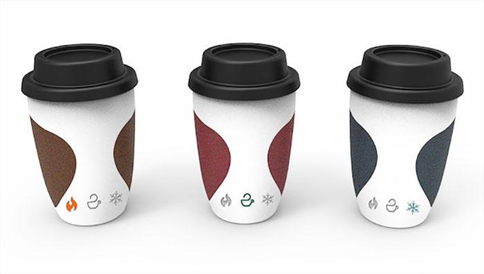 Кружка для кофе с индикатором температуры от Yi Teng Shih, Rengrui Xiang, Yuting Chen.