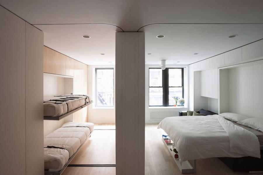 4. Вуаля, вот и дополнительная спальня. 5. Удобный регулируемый раскладной стол вмещает до 10 персон
