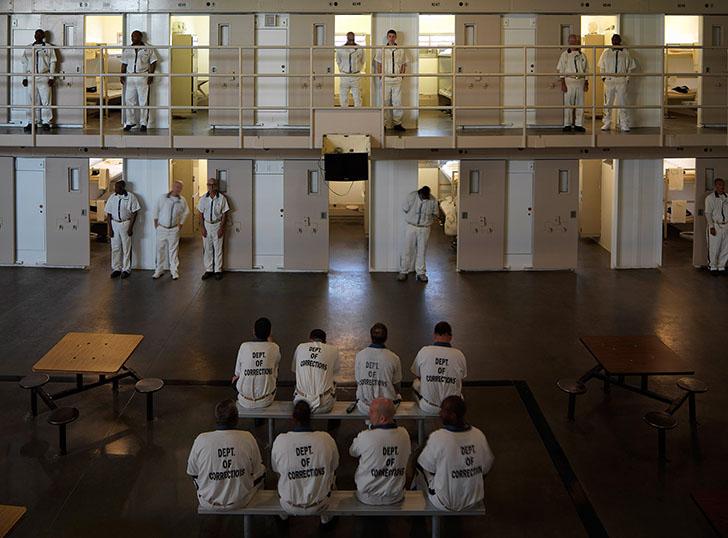 США. Государственная тюрьма Смит, тюрьма строгого режима с 1354 заключенными возле города Гленвилль