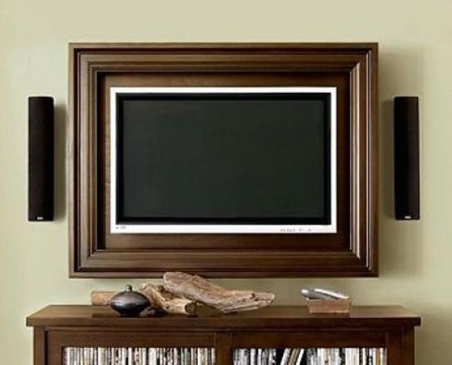 Плоский телевизор врамке: незатратно, новыглядит роскошно.