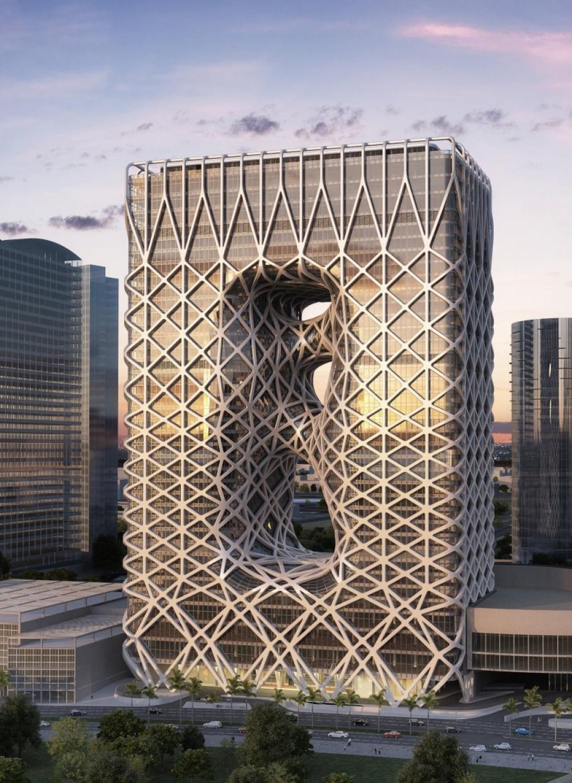 Новый 40-этажный пятизвездочный отель вкитайском городе Макао (Китай) является проектом легенды арх