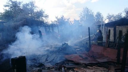 ВВоронежской области напожаре едва непогибла старая женщина