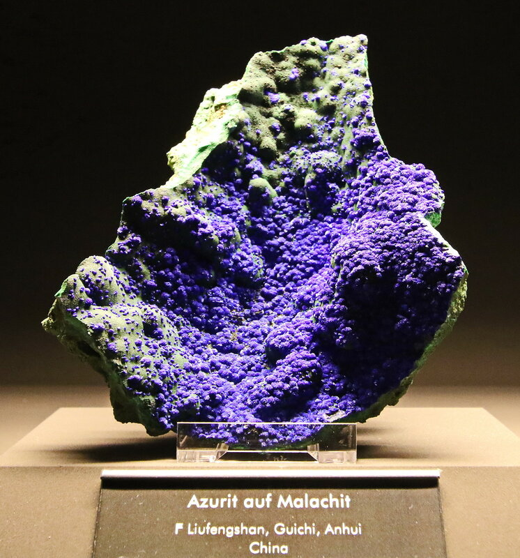 Azurit auf Malachit, China...2H1A6989ОВ.JPG