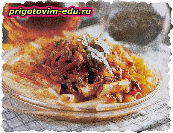 Соус из мясного фарша по-болонски к макаронам