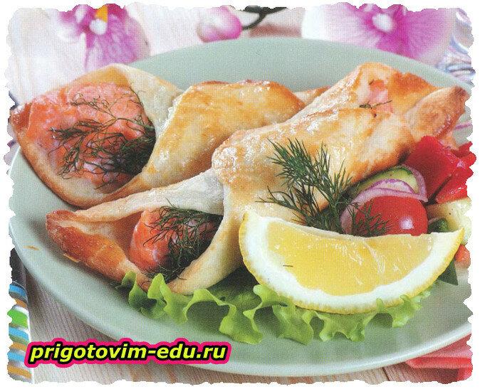 Рыбные конвертики с горбушей