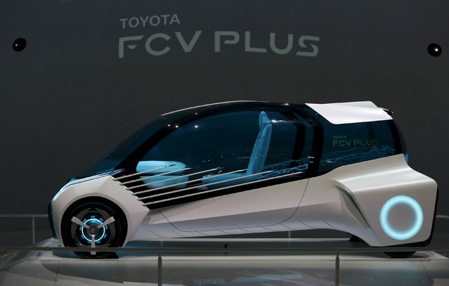 Toyota Motor Corp's concept car Toyota FCV PLUS is displayed at the 44th Tokyo Motor Show in To