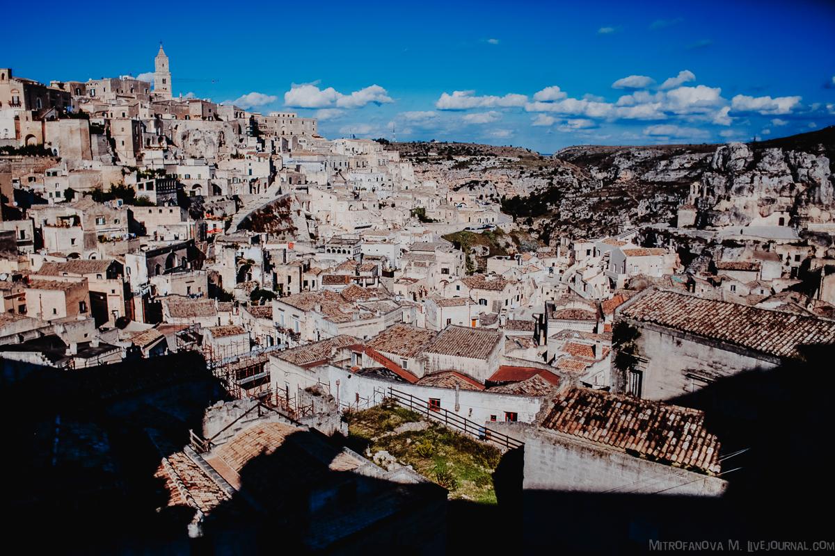 Италия: Матера - город пещерных домов