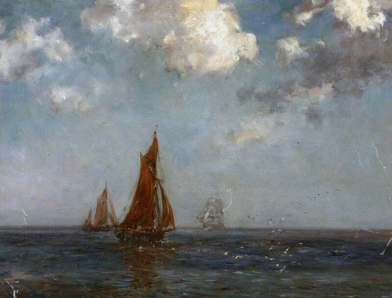 Seascape with Fishing Smacks