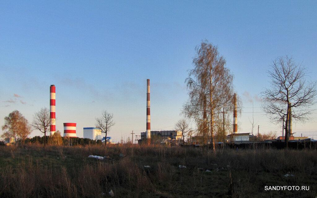 Новый энергоблок Троицкой ГРЭС в лучах закатного солнца