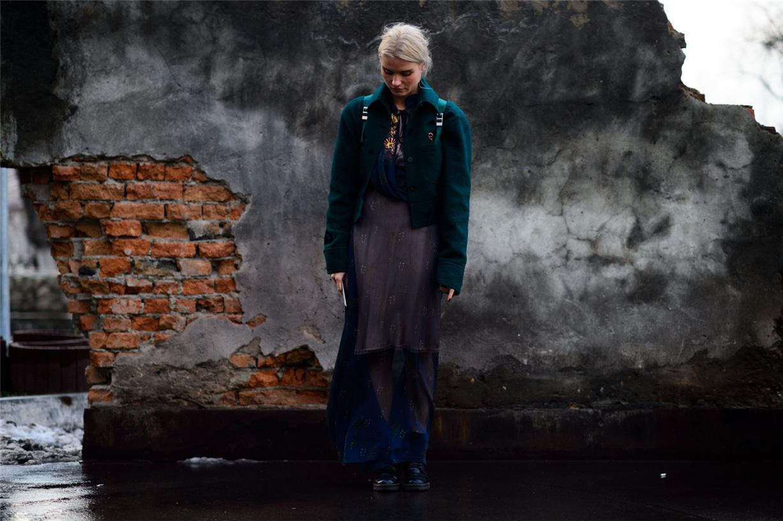 Уличная мода Киева - Валя Грищенко / Valia Gryshchenko - Ukrainian Fashion Week Fall 2016 Street Style by Adam Katz Sinding