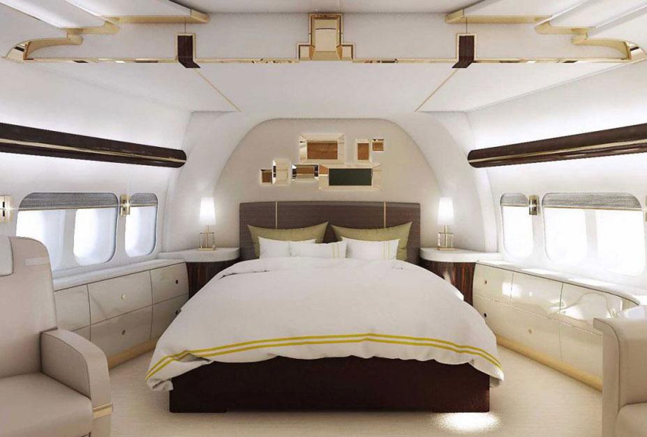Интерьеры салонов самолета Boeing 747 VIP Plane