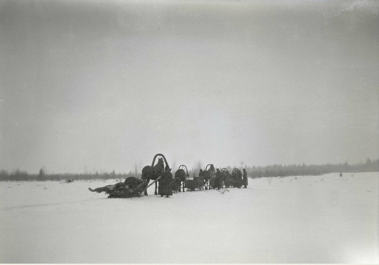 1897. Зимняя охота. Выезд на охоту