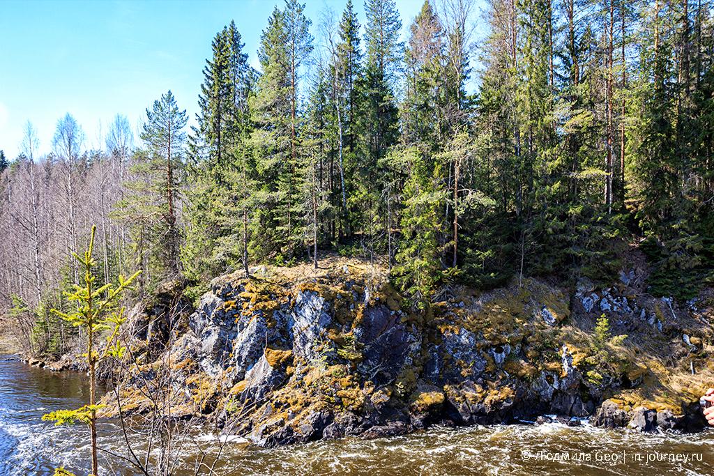 скалы у водопада Кивач