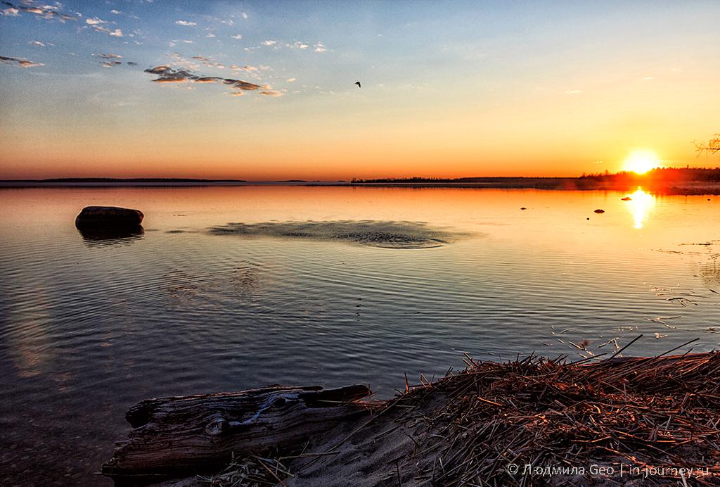 Онежское озеро в Карелии фото