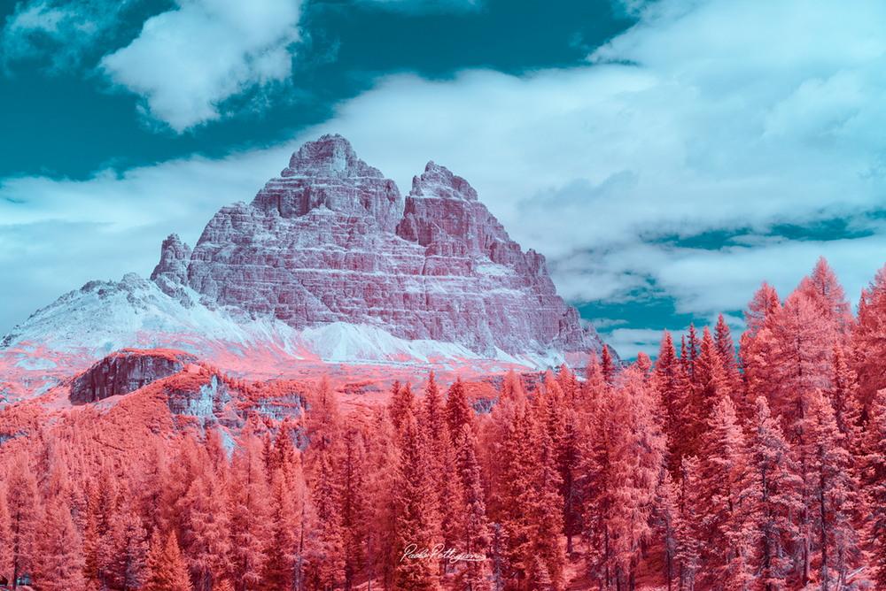 Доломитовые Альпы в инфракрасном цвете на снимках Паоло Петтигиани