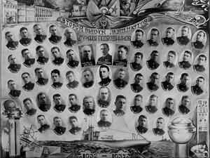 1937 г. Военно-морское училище им. М. В. Фрунзе. Второй выпуск лейтенантов-штурманов-подводников
