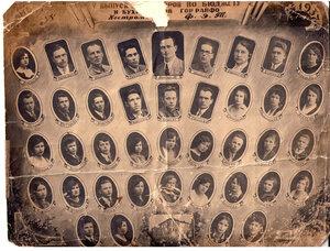 1937 г. Костромской ФЭТ. 5-й выпуск бухгалтеров по бюджету и бухгалтеров гор райфо