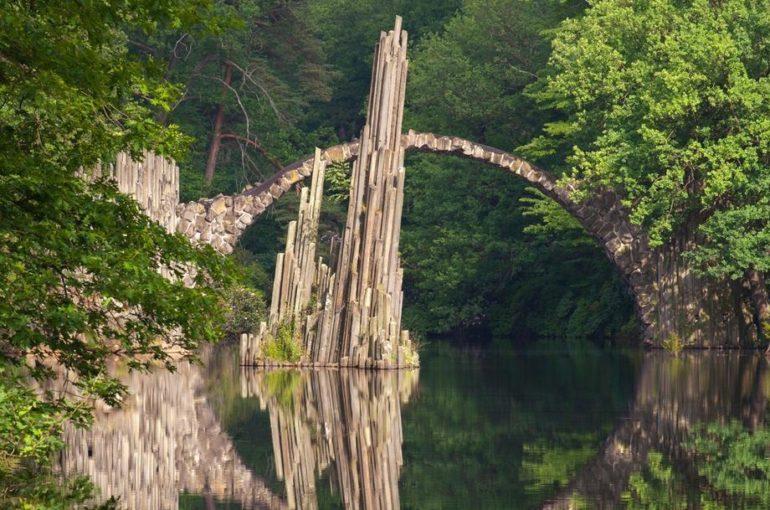 мост мосты Красота парки Известия-Hall меню парк Саксония