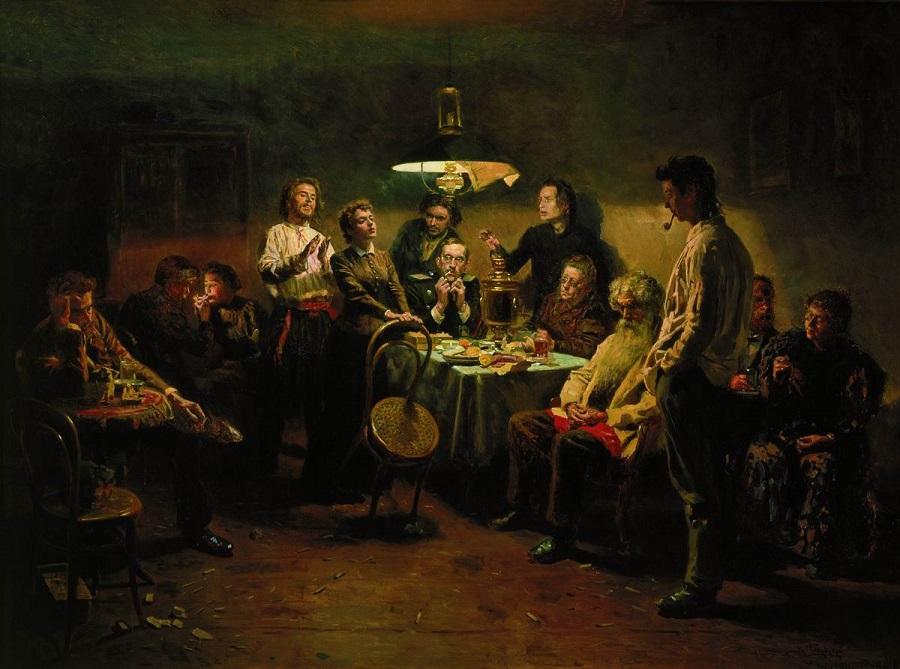 Вечеринка. 1875-1897 Государственная Третьяковская галерея, Москва.
