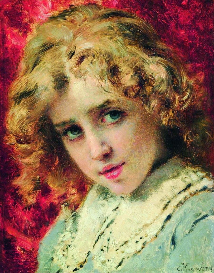 Детская головка (Портрет сына Константина). Конец 1890-х
