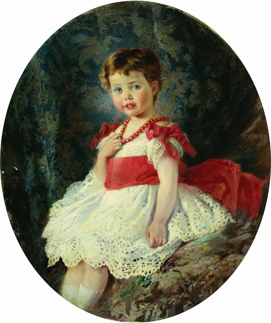 Портрет девочки. 1877  Ростовский областной музей изобразительных искусств