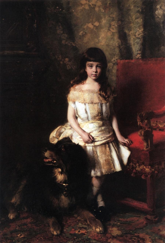 Портрет Петра Александровича Половцева ребенком. 1880.