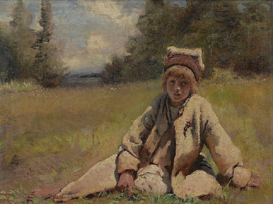 Peasant Boy in a Meadow.