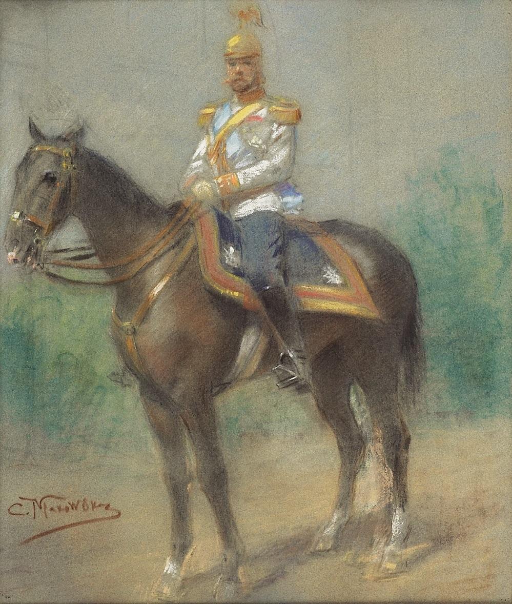TSAR NICHOLAS II ON HORSEBACK.
