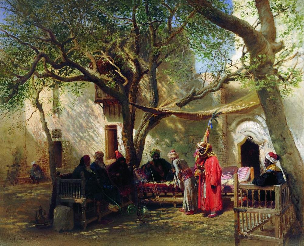 Дервиши в Каире. 1875 Государственная Третьяковская галерея, Москва.