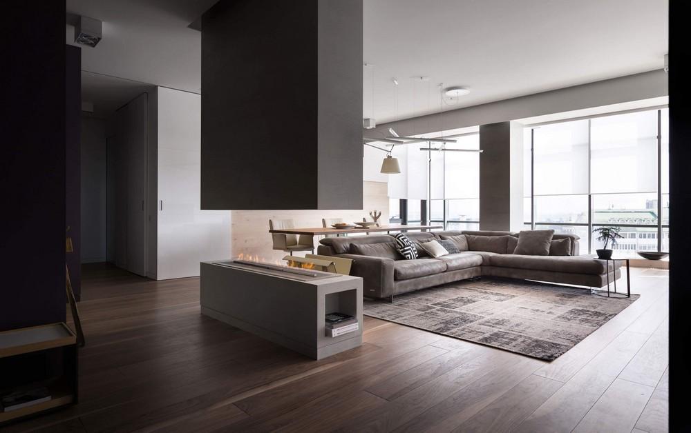 Современный дизайн квартиры-студии в Днепре