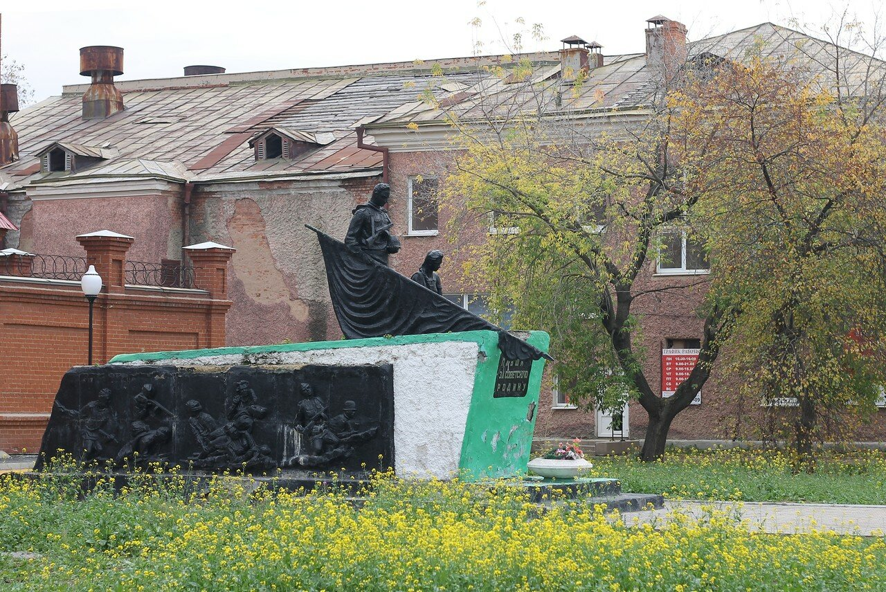Autumn in Ural. Nevyansk. Памятник Погибшим в Великой Отечественной войне