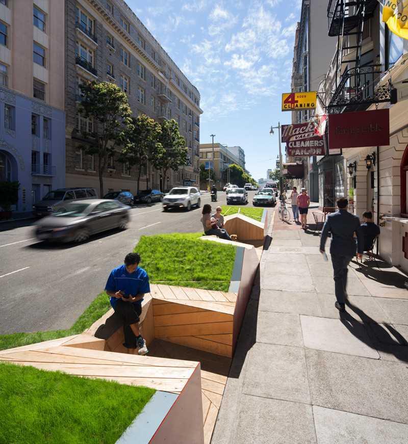 6. Этот парклет в Сан-Франциско разработан Ogrydziak Prillinger Architects.