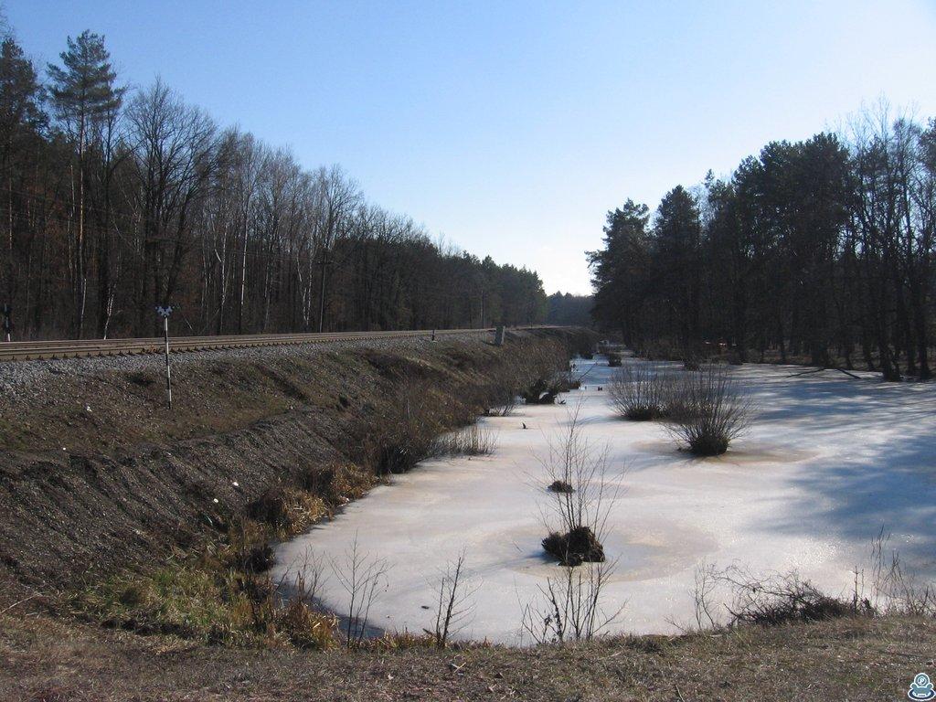 Озеро у железной дороги