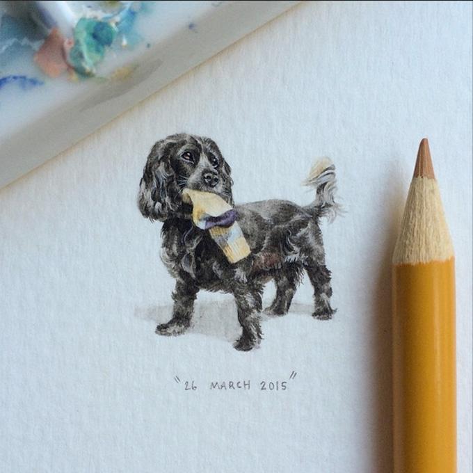 Arte em miniatura por Lorraine Loots