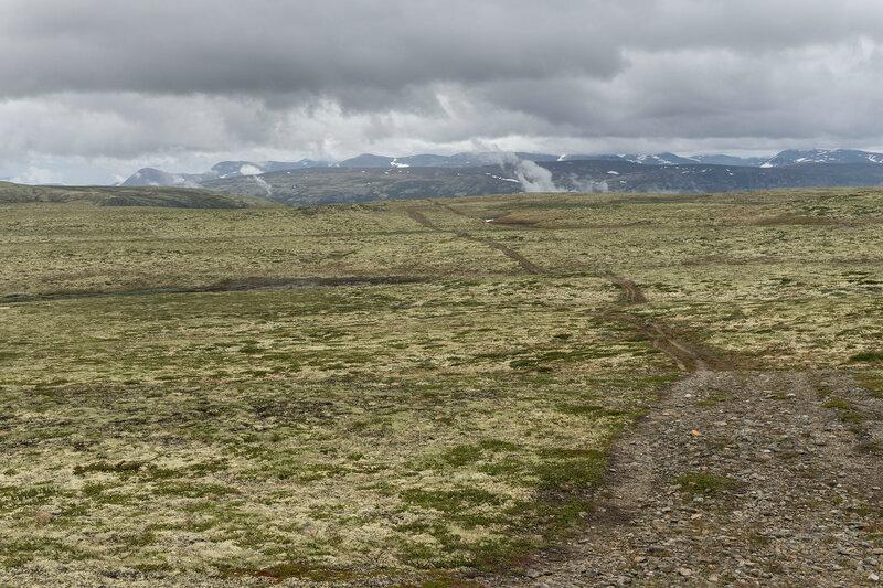 размеченная пешеходная тропа в национальном парке Довре (Dovre), Норвегия