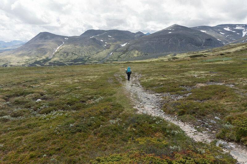 размеченная пешеходная тропа в парке Рондане, Норвегия