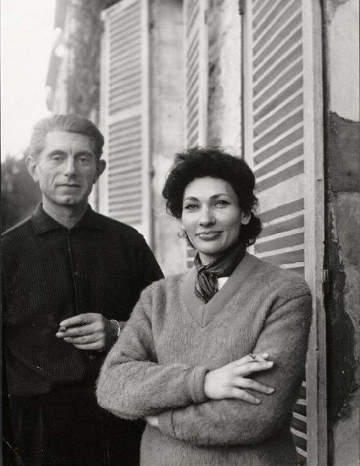 1960-е. Пауло Пикассо и его жена
