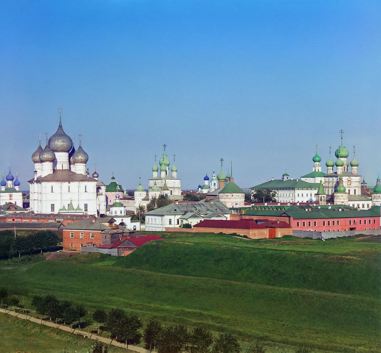 Общий вид Кремля с колокольни Всесвятской церкви