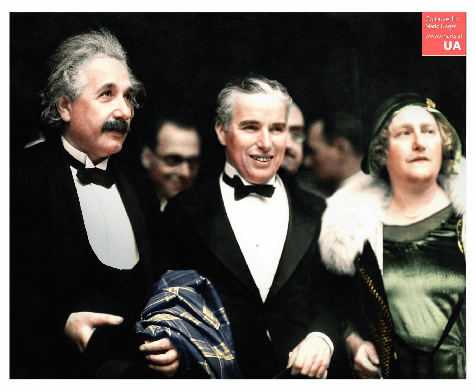 Энштейн и Чаплин. ( 16 фото )