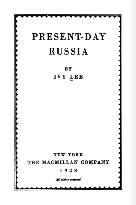Present-day Russia Ivy Lee, 1928.png